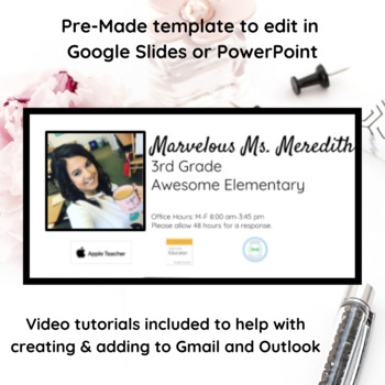 PHOTO EMAIL SIGNATURE: GOOGLE SLIDE TEMPLATE