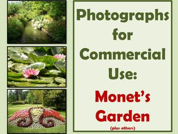 PHOTOGRAPHS: Monet's and other Gardens for commercial use
