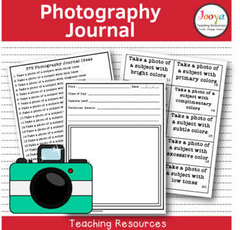 PHOTOGRAPHY - 375 Photography Journal Ideas