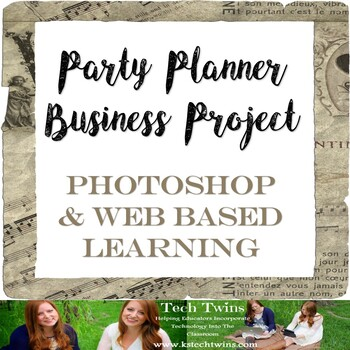 PHOTOSHOP, WEB BASE LEARNING- Party Planner Business Project