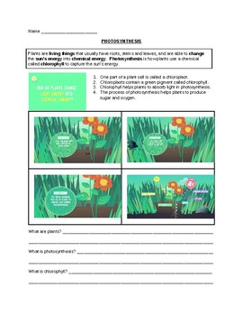 PHOTOSYNTHESIS for ELL and/or SPED