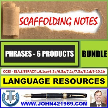 PHRASES AND CLAUSES HANDOUTS: BUNDLE