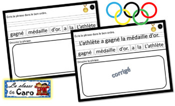 PHRASES MÊLÉES - OLYMPIQUES D'HIVER - FRENCH FSL