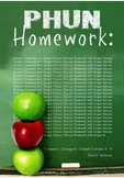 PHUN Homework (Painless Homework with Unique Notions)