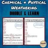 PHYSICAL AND CHEMICAL WEATHERING SCIENCE DOODLE NOTES