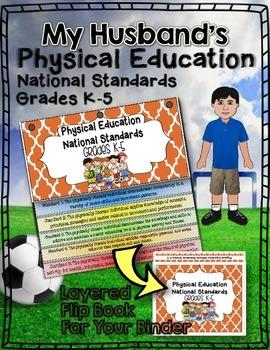 PHYSICAL EDUCATION NATIONAL STANDARDS BINDER FLIP BOOK: GRADES K-5