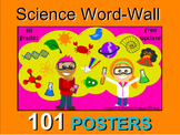 PHYSICAL, LIVING, EARTH SCIENCE WORD WALL 101 POSTERS  VOCABULARY BUILDER K-12