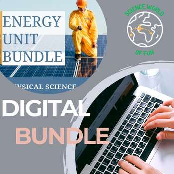 PHYSICAL SCIENCE DIGITAL NOTEBOOK BUNDLE- ATOMS, LAWS OF MOTION, ENERGY, WAVES