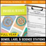 PHYSICAL SCIENCE Demos, Labs & Science Stations BUNDLE