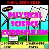 PHYSICAL SCIENCE- MATTER, FORCE & MOTION, ENERGY, WAVES, AND ELECTRICITY