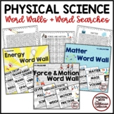 PHYSICAL SCIENCE BUNDLE: 3 WORD WALLS + 3 WORD SEARCHES