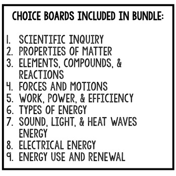 PHYSICAL SCIENCE WORD WALL PENNANTS