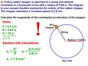 PHYSICS: CIRCULAR MOTION: CENTRIPETAL FORCE & ACCELERATION. Review, Test Prep.