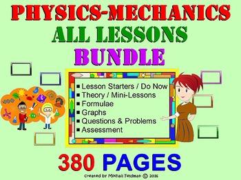 PHYSICS: MECHANICS LESSONS BUNDLE: Do Now, Mini-Lessons, A