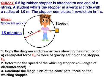 PHYSICS OF CIRCULAR MOTION: CENTRIPETAL FORCE & ACCELERATION. Review, Test Prep.