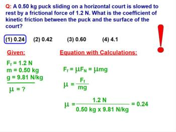 PHYSICS OF FRICTION: Kinetic & Static Friction Explained. Review, Test Prep.