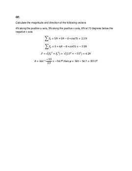 PHYSICS REVISION ON VECTOR ANALYSIS