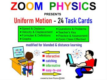 PHYSICS: UNIFORM MOTION TASK CARDS. GRAPHS, PROBLEMS, TEST