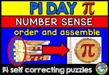 PI DAY ACTIVITIES ELEMENTARY (KINDERGARTEN NUMBER SENSE PUZZLES)