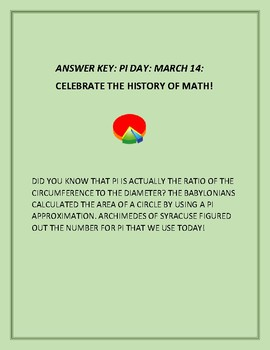 PI DAY CRYPTOGRAM: CELEBRATE THE HISTORY OF MATH!