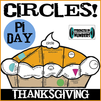 PI DAY Pie PUZZLE Circles - Vocabulary, Area, Circumference Practice