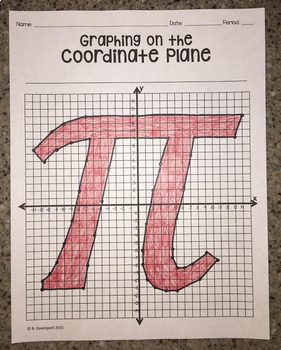 PI Day Bundle (Graphing on the Coordinate Plane Mystery Pictures)