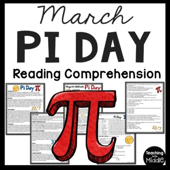 History of Pi Day Reading Comprehension Worksheet, March 14th, Holidays