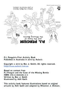 P.I. Penguin's First Activity Booklet [8-pages A4-folded]
