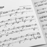 PIANO SHEET MUSIC: Für Elise - Ludwig van Beethoven (w/ MP3)