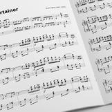 PIANO SHEET MUSIC: The Entertainer - Scott Joplin (w/ MP3)