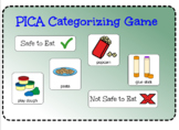 PICA Categorization File Folder Game (Safe to Eat vs. Not