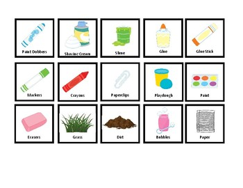 PICA Sorting Mat/File Folder Game for Special Education (Two Levels)