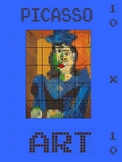 PICASSO POSTER GIANT, WITH CODE - PIXEL ART, CODING