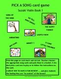 PICK A SONG Suzuki Book 1 Card Game