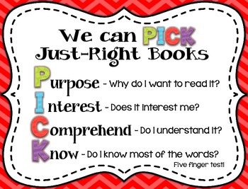 PICK Just-Right Books Posters (3)