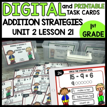 PICK THE STRATEGY USED DIGITAL TASK CARDS | PRINTABLE TASK CARDS