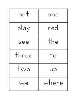 PICKLE Sight Word Game PrePrimer and Primer, Sight Word Flash Cards