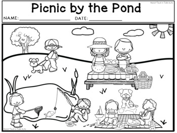 PICNIC BY THE POND! Language Development Lessons for Young Language Learners