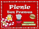 PICNIC Ten Frame Clip Art {Ant BBQ Lemonade} 0-10 Common Core Math Aid