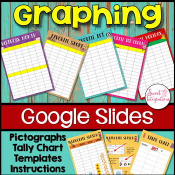 PICTOGRAPHS with Google Drive™ - Digital Graphs With Pictures With Templates