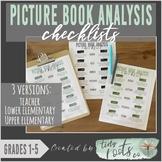 PICTURE BOOK ANALYSIS CHECKLISTS | Grades 1-5 |Teacher & S