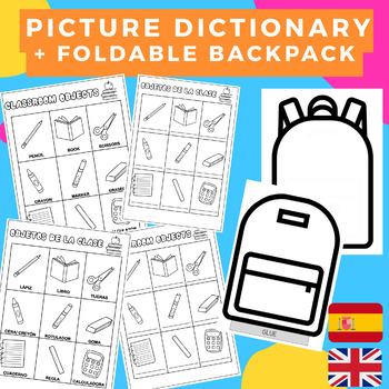 PICTURE DICTIONARY SPANISH-ENGLISH Classroom objects/ Objetos de la clase