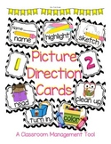 "Chevron Themed ""Picture Direction Cards"""