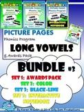 PICTURE PAGES Phonics Program BUNDLE #3 LONG VOWELS