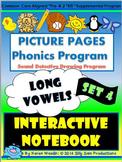 PICTURE PAGES Phonics Program INTERACTIVE NOTEBOOK Set 4 LONG VOWELS