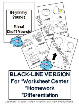 PICTURE PAGES Phonics Program Set 2 BEGINNING SOUNDS BLACK-LINE