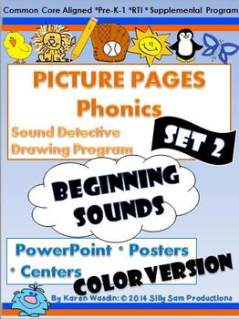 PICTURE PAGES Phonics Program Set 2 BEGINNING SOUNDS COLOR