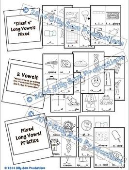 PICTURE PAGES Phonics Program Set 4 LONG VOWELS: BLACK-LINE VERSION
