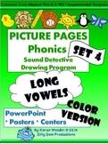 PICTURE PAGES Phonics Program Set 4 LONG VOWELS COLOR