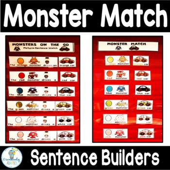 MAKING SENTENCES: Monsters (Autism/Special Education)
